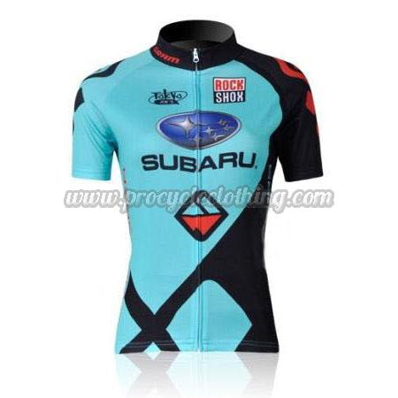 2011 Team SUBARU Women Pro Bicycle Apparel Riding Jersey Blue ... 5b8173bff