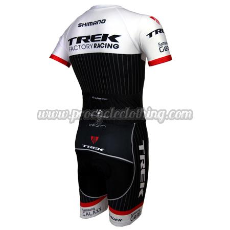 ... 2015 Team TREK Short Sleeves Triathlon Riding Clothing Skinsuit White  Black 3da18370f
