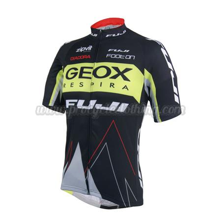 bf48dad3e 2014 Team GEOX FUJI Pro Bicycle Apparel Riding Jersey Black Yellow ...