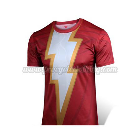 c7a07f935 2015 Shazam Captain Marvel Outdoor Sport Leisure Apparel Biking T ...