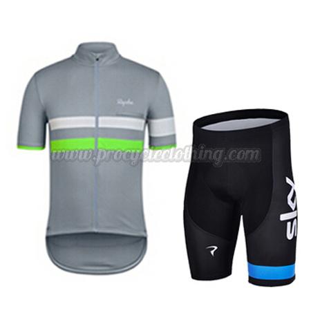 530c67ebb 2015 Team Rapha Pro Bike Clothing Set Cycle Jersey and Shorts Grey ...