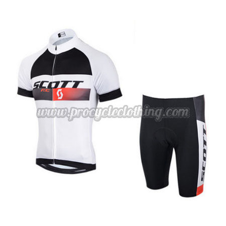 e384c8232 2015 Team SCOTT Pro Bike Clothing Set Cycle Jersey and Shorts White ...