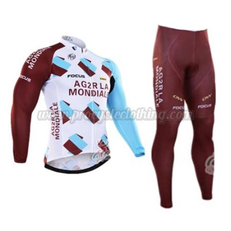 2016 Team AG2R LA MONDIALE Winter Biking Wear Thermal Fleece Cycle ... f349291e7