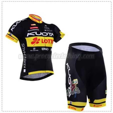 69f072437 2016 Team KUOTA LOTTO Pro Bike Clothing Set Cycle Jersey and Shorts ...