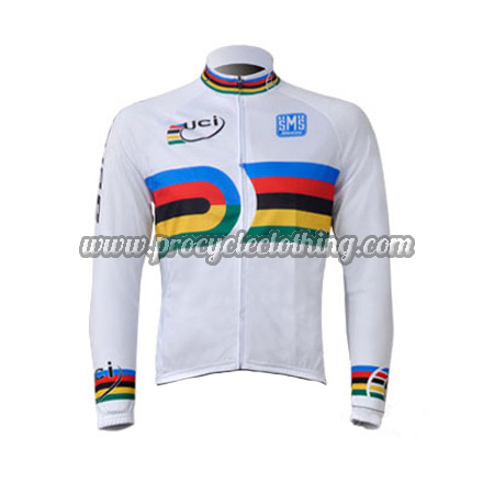 a64a4fc1 2010 Team Santini UCI Champion Riding Outfit Cycle Long Jersey White ...
