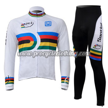2010 Team Santini UCI Champion Riding Clothing Suit Cycle Long ... 31e683a1b