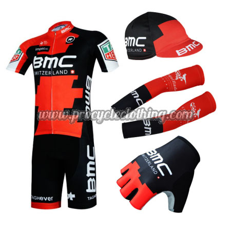 2017 Team BMC Bike Clothing Set Cycle Jersey and Padded Shorts+Cap+ ... a40cc0704