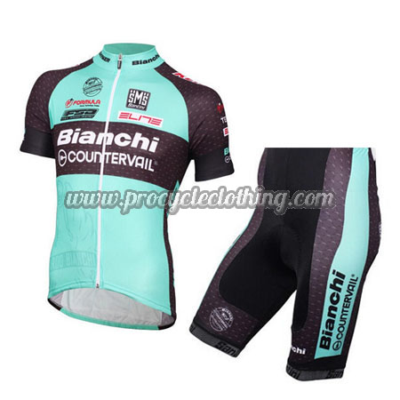 2016 Team Bianchi COUNTERVAIL Pro Bike Clothing Set Cycle Jersey and ... 1bb3d5a13