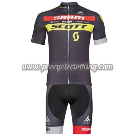 2017 Team SCOTT SRAM Biking Clothing Summer Winter Cycle Jersey and ... be9adad62