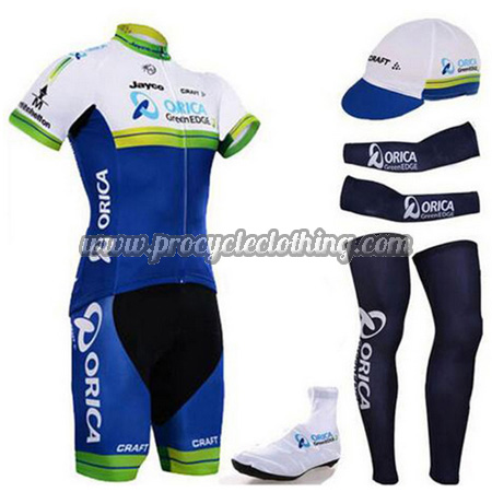 2015 Team ORICA Riding Wear Set Cycle Jersey and Padded Shorts+Cap+ ... 51d2eb63f
