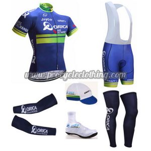 2017 Team ORICA Riding Wear Set Cycle Jersey and Padded Bib Shorts+ ... 0a0a945dd