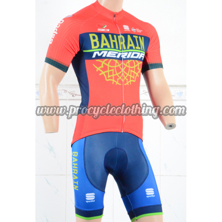 2018 Team BAHRAIN MERIDA Riding Clothing Set Cycle Jersey and Shorts ... 214c28c3d