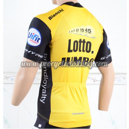 ... 2018 Team LOTTO JUMBO Biking Jersey Shirt Yellow Black