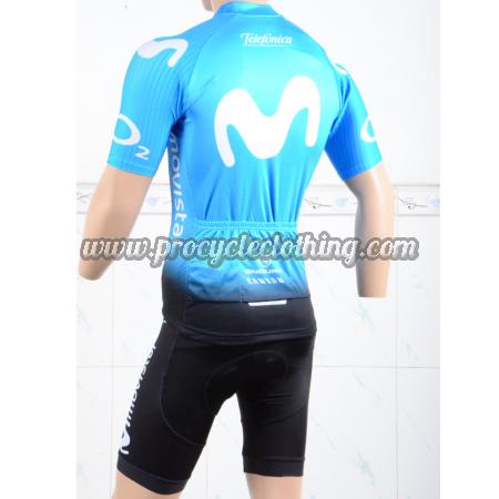 2018 Team Movistar Bike Clothing Set Cycle Jersey and Shorts Blue ... c1cd6c065