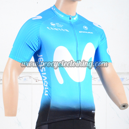 8646dbbaf 2018 Team Movistar Biking Outfit Riding Jersey Maillot Shirt Blue ...