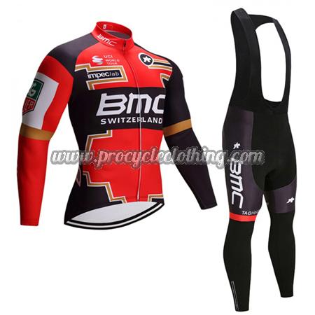 2017 Team BMC Winter Biking Wear Thermal Fleece Cycle Long Jersey ... 2a2dfbb3d