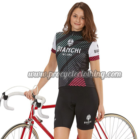 94630f76e 2018 Team BIANCHI Womens Bike Clothing Set Cycle Jersey and Shorts ...