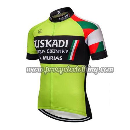 c425272d5 2018 Team EUSKADI Biking Outfit Riding Jersey Maillot Green Black ...