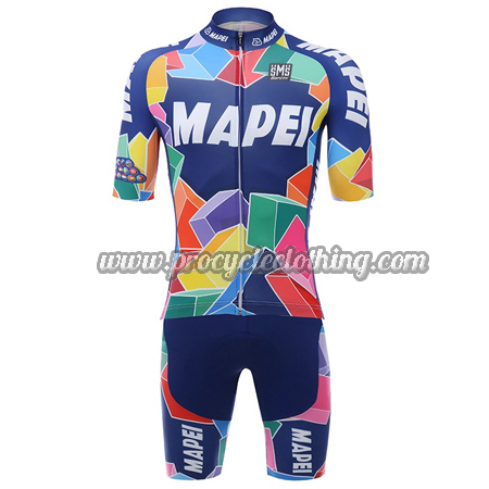 06dfb6c43 2018 Team MAPEI Santini Riding Clothing Set Cycle Jersey and Shorts ...