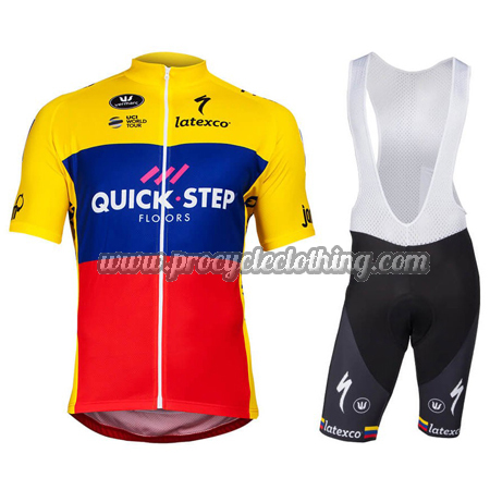 2018 Team QUICK STEP Ecuador Champion Riding Wear Cycle Jersey and ... b84784f3e